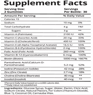 Fitbabe Hair nutritional facts