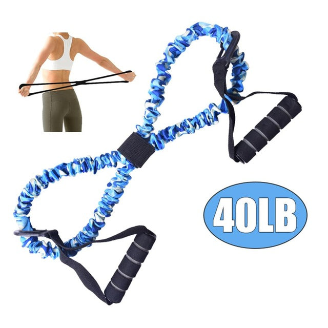 Fitbabe Pull Rope Elastic Resistance Bands Fitness Rope Rubber Bands for Fitness Equipment Expander Exercise Tube Training