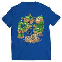 Dinosaur Land Map T-shirt