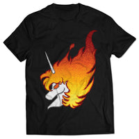 Flaming Unicorn T-shirt