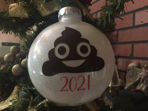 Funny Poop Ornament