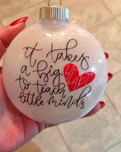 Load image into Gallery viewer, Personalized Teacher Christmas Ornament, Teacher Personalized Christmas Ornament, Personalized Teacher 2018 Ornament, Teacher Christmas Gift