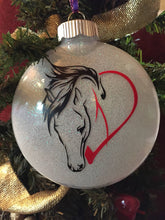 Load image into Gallery viewer, Horse Ornament, Horse Farm Ornament, Farm Horse Ornament, Horse Farmhouse Christmas Ornament, Horse Gift