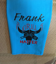 Load image into Gallery viewer, Personalized Outdoor Grill Master Towel, Outdoor Grill Master Personalized Towel, Personalized Grill Master Outdoor Towel, Father Gift Idea