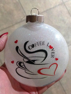 Coffee Lovers Christmas Ornament, Love Coffee Christmas Gift, Coffee Christmas Ornament, Coffee Lovers Gift Ideas, Birthday Gift