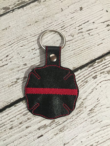 EMS, Fireman, Rescue, Firefighter, Personalized Embroiderered Gift, Father's Day Gift, Birthday Gift, Personalized Leather Key Chain Gift