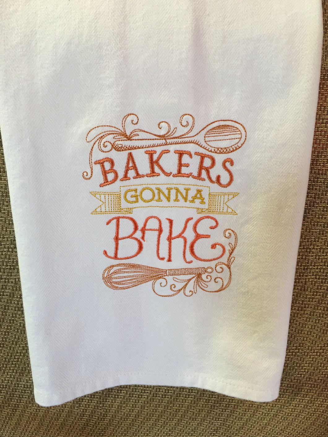 Bake Cooking Baker's Gonna Bake Cooking Hand Dish Kitchen Towel Decor Birthday Retirement Shower Gifts