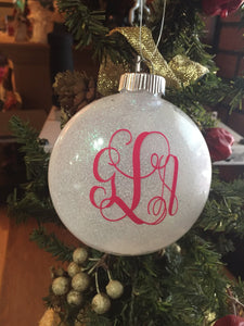 Monogram Christmas Ornament, 2018 Christmas Gift, Personalized Christmas Ornament Gift, Birthday Gift, Graduation Gift, Christmas Gift