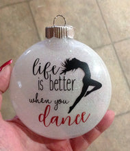 Load image into Gallery viewer, Dance Ballerina Ornament, Ballerina Ornament Dance, Ornament Dance Ballerina Gift, Dancers Ornament Christmas Gift