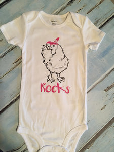 Chicken Farm Animal Baby Boy Baby Girl Bodysuit, Chicken Farm Animal Bodysuit Baby Boy Baby Girl, Chicken Farm Animal Baby Bodysuit