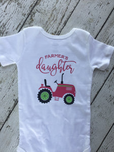 Farmers Daughter Pink Tractor Outfit, Pink Tractor Farmers Daughter Outfit, Pink Tractor Farmers Daughter Outfit, Baby Shower Gift
