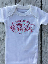 Load image into Gallery viewer, Farmers Daughter Baby Outfit, Farmers Daughter Outfit, Farmers Daughter Baby Gift, Farmers Daughter Baby Shower Gift, Farmers Daughter Baby