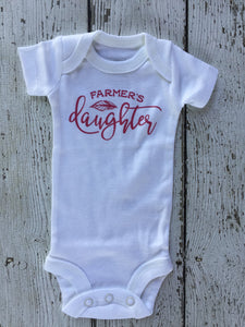 Farmers Daughter Baby Outfit, Farmers Daughter Outfit, Farmers Daughter Baby Gift, Farmers Daughter Baby Shower Gift, Farmers Daughter Baby