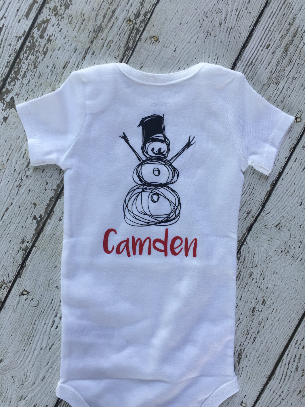 Personalized Snowman Baby Outfit, Snowman Baby Outfit Personalized, Baby Outfit Personalized Snowman, Baby Boy Girl Snowman Outfit Gift