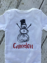 Load image into Gallery viewer, Personalized Snowman Baby Outfit, Snowman Baby Outfit Personalized, Baby Outfit Personalized Snowman, Baby Boy Girl Snowman Outfit Gift
