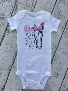 Horse Personalized Baby Outfit, Personalized Horse Baby Outfit, Horse Baby Outfit Personalized, Horse Lover Outfit For Baby Shower Gift