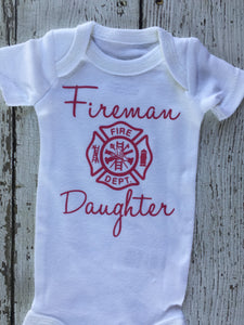 Firemans Daughter Baby Outfit, Baby Outfit Firemans Daughter, Firemans Daughter Outfit Baby, Firemans Daughter Baby Gift, Baby Shower Gift