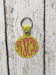 Monogram Keychain, Keychain Monogram, Monogram Keychain Gift For Her, Birthday Christmas Monogram Gift For Her