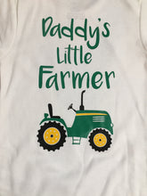 Load image into Gallery viewer, Farmers Son Farm Tractor Bodysuit, Farm Tractor Bodysuit Farmers Son, Bodysuit Farmers Son Farm Tractor, Daddys Little Farmer Outfit