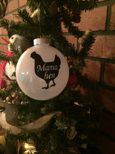 Load image into Gallery viewer, Farm Chicken Ornament, Farmhouse Chicken Ornament, Mama Hen Farm Chicken Ornament, Chicken Christmas Ornament Gift