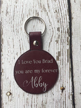 Load image into Gallery viewer, Boyfriend Gift Personalized, Boyfriend Gift Keychain, Couple Gift For Boyfriend, Custom Keychain For Boyfriend, Wedding Gift, Anniversary
