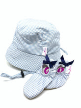 Load image into Gallery viewer, Gingham Blue Hat
