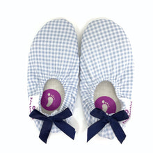 Load image into Gallery viewer, Gingham with Bow Kids Water Shoes