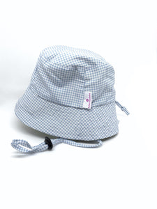 Gingham Blue Hat