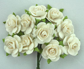 Roses of Paper - small 2cm - 3 colours - Posy of 10