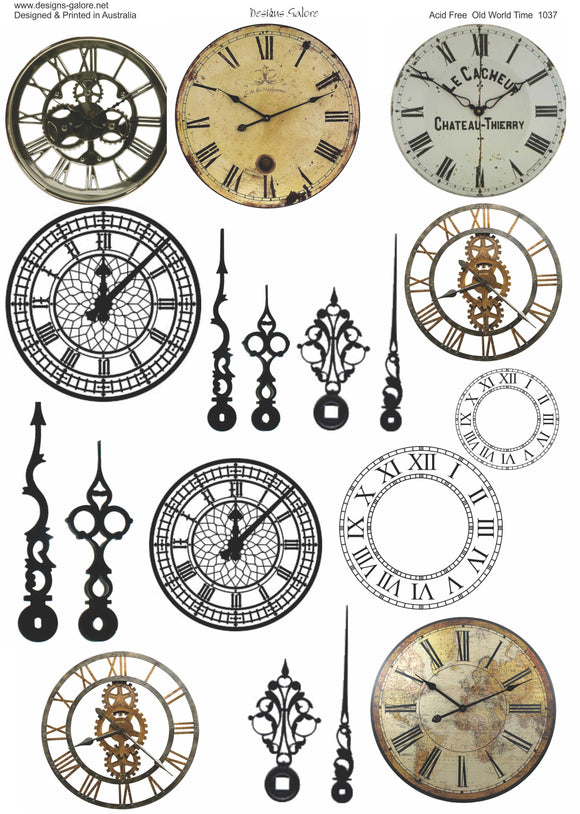 Old World Time, Cut & Create, Printed
