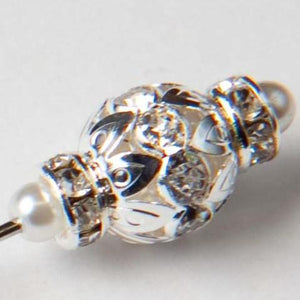 Emperor Crystal Jewel Pin, 2cm