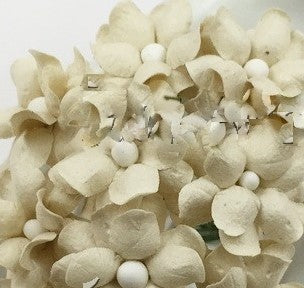 Cream Paper Flowers, 2.5cm diam, posy of 10