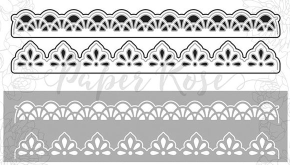 Lace Edges Die - 2 dies 2cm & 1.7cm wide; Both are 15.5cm long