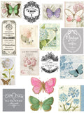 Spring Flowers Paper Collection - 20 A4 Papers, Printed