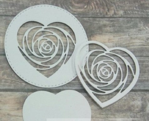Hearts Die - 2 dies 6x5.5cm - 3 ways to use it