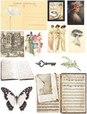 Vintage Junk Journal with Keys - 10 A4 Papers ,Digital