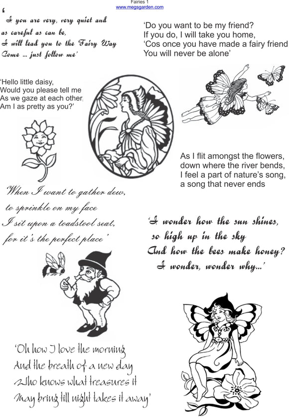 Fairies & Their Poetry B&W Digital