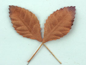 Copper Colour Paper Leaves, 5 per pack, 2 sizes