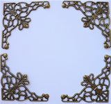 Filigree metal corner