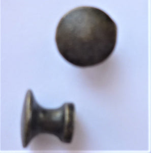 Knob - Hardware Metals, Brass, 1.2cm diameter & 1cm high