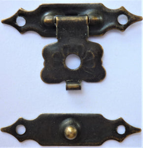 Lock buckle, Brass, 2.8cm when 2 pieces closed