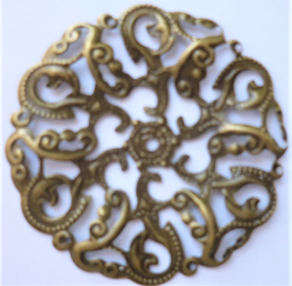 Large round filigree trinket