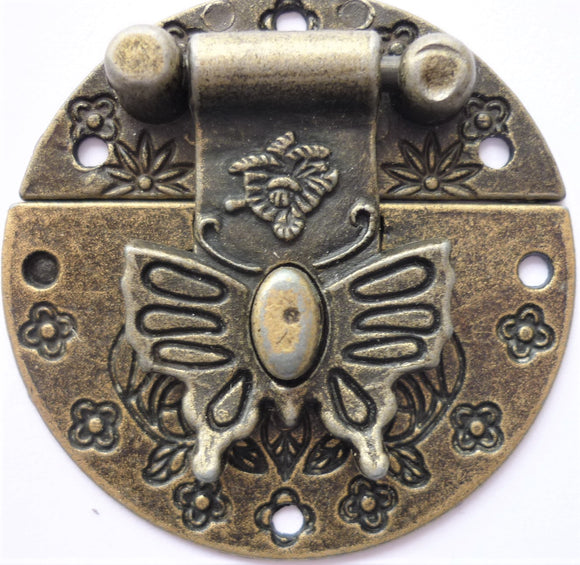Butterfly Latch, Brass, 4cm diameter