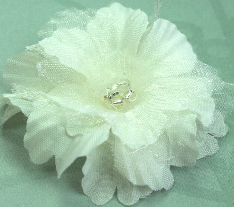 Primula Flowers - Silk & Organza w Beaded Stamen - 4.5cm, 7 Colours