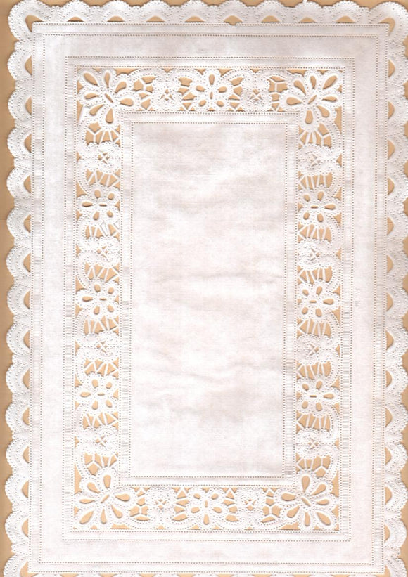 Doily - Basket Weave Rectangle, 30x20cm, Pk 4