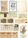 Vintage Junk Journal Cut & Create Images - Digital