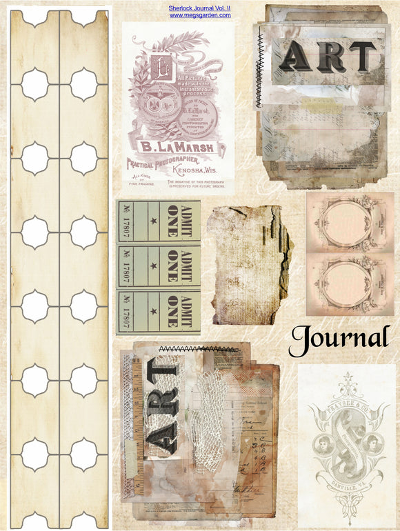 Sherlock Journal Vol. II Mini Album - 18 A4 Papers, Album pages 5x7
