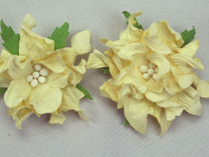 Gardenia Paper Flower - Pack of 5 Flowers, 5cm diameter