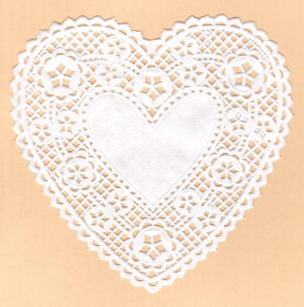 Doily - love heart