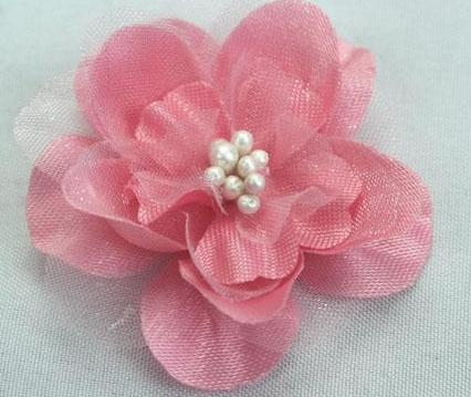 Silk & Organza Flowers - 4cm diameter, 7 Colours